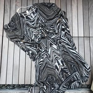 GOTTEX 100% Silk Brown & Cream Print Cover Up